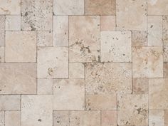 Travertine plates Rustic, antique tumbled - So beautiful are natural stone slabs in the rustic look. The gray, water-permeable joint emphasizes - Terrace Tiles, Terrace Floor, Rustic Plates, Antique Plates, Country Stil, Deck Flooring, Marble Painting, Travertine Tile, Stone Slab