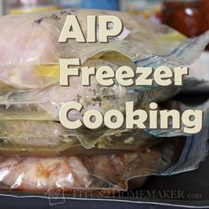 An AIP-Friendly Freezer Cooking PlanIn the last couple months, I've transitioned to an Autoimmune Paleo (AIP) diet. I feel a lot better, but it's a pain the neck. There is so much that's forbidden on this diet...and what makes it hardest for me is that almost all of the sauces and seasonings ...
