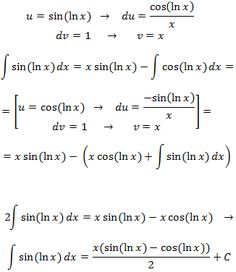 solving the integral of sin(ln(x))  by parts