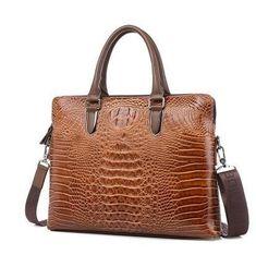 messenger bags Crocodile pattern fashion handbags Genuine Leather Business shoulder bag totes free shipping