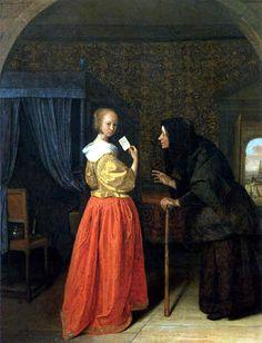Bethsabée recevant une lettre Jan Steen (1659)