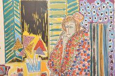 """""""Seated Woman"""" by Gloria Vanderbilt #EBTH #art Available on EBTH.com #EBTH"""