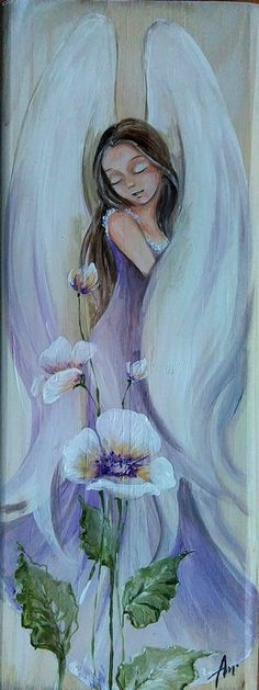 I Believe In Angels, Angel Pictures, Angel Art, Whimsical Art, Religious Art, Beautiful Paintings, Painting Inspiration, Painting & Drawing, Photo Art