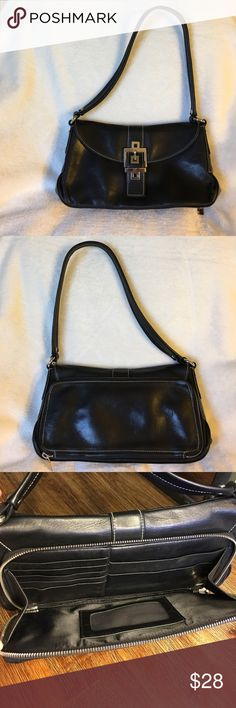Perlina butter soft black leather organizer bag Rarely used Perlina butter soft black leather organizer purse with built in wallet. Excellent condition, smoke free home Perlina Bags