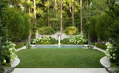 Classic Garden for a Classic House: Greystone by Howard Design Studio