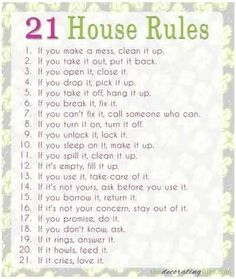1000+ ideas about House Rules Chart on Pinterest   Chore Charts, Cell Phone Contract and Chore Chart For Kids