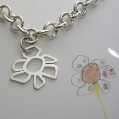 Your children's drawings turned into jewelry. Brilliant.