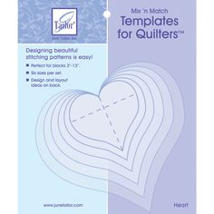 Simplicity ez quilting easy circle cut acrylic template amazon june tailor mixn match templates for quilters 6pkgheart pronofoot35fo Choice Image