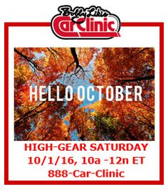 HIGH-GEAR SATURDAY, Saturday, October 1, 10a-12n ET, 888-Car-Clinic. Drive to www.WatchBobbyLive.com for #AutoExpert Advice & #AutoIndustry News.  Sit down, strap in and get ready to drive!  I'll put my 45 years of servicing nearly every make/model on the market ... so tune in – call in – and let's share some Car Love. ********************** If you miss the #CarClinic globalcast or want to hear it all over again, catch it on your iPhone, iPod or iPad: • Go to the app store. • Download the…