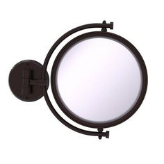 Allied Brass x Antique Bronze Double-Sided Magnifying Wall-Mounted Vanity Mirror at Lowe's. Add this stylish wall mounted makeup mirror to your bathroom décor for an elegant touch. Makeup and shaving mirror pivots and tilts to allow for complete Wall Mounted Makeup Mirror, Led Makeup Mirror, Lighted Wall Mirror, Makeup Mirror With Lights, Led Mirror, Mirror Glass, Traditional Bathroom Mirrors, Zinn, Antique Pewter
