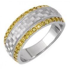 14 Karátos Női Fehér Arany Gyűrű Gyémántokkal - Klugex Ékszer Center