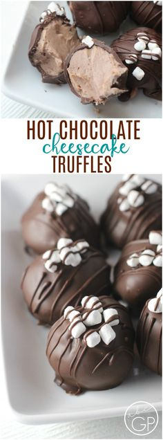 Hot Chocolate Cheesecake Truffles #truffles #dessert #hotchocolate #cheesecake