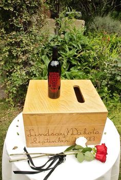 Custom love letter and wine box ceremony and rose ceremony for the moms #wedding #weddings #wine box #wine ceremony #rose ceremony