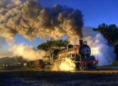 Steaming out at Dawn #steam #engine