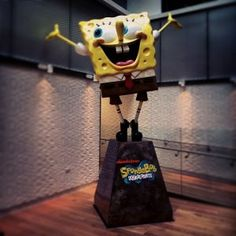Popped in to see my pal Spongebob @MTV UK #100happydays #day98