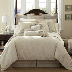 Waterford Lysander Ivory Bedding By Waterford Bedding, Comforters, Comforter Sets, Duvets, Bedspreads, Quilts, Sheets, Pillows