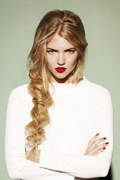 structured, yet messy side braid