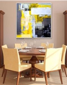 MODERN ABSTRACT HUGE WALL ART OIL PAINTING ON CANVAS(no frame) JM15 #Abstract