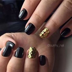 Business nails, Evening dress nails, Exquisite nails, Gold casting nails design, Nails with stickers, Original nails, ring finger nails, Spectacular nails