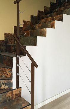 Barandilla de hierro con tensores de acero inoxidable,carpinteria metalica AMG