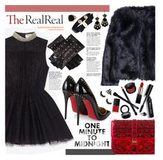 """Holiday Sparkle With The RealReal: Contest Entry"" by diesnatalis ❤ liked on Polyvore featuring Yves Saint Laurent, H&M, Valentino, Bobbi Brown Cosmetics, L'Oréal Paris, Givenchy, NYX, NARS Cosmetics, MAC Cosmetics and Gorgeous Cosmetics"