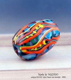 Boh*Hippie - Modern Art Glass - 1 free shaped focal bead by Michou by michoudesign on Etsy https://www.etsy.com/listing/253226054/bohhippie-modern-art-glass-1-free-shaped