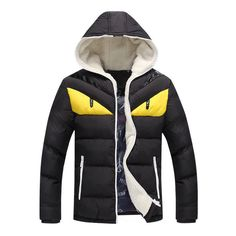 "Winter Warm Mens Down Coat Thick Parkas Hooded Jacket Windbreaker Outwear Hoodie  Size Chest Shoulder Sleeve Length  M 104cm/40.9"" 44cm/17.3"" 64cm/25.2"" 70cm/27.6""  L 108cm/42.5"" 45cm/17.7"" 65cm/25.6"" 71cm/28.0""  XL 112cm/44.1"" 46cm/18.1"" 66cm/..."