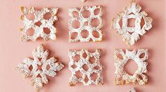 A pair of kitchen shears is all you need to transform store-bought wonton wrappers into stunning snowflakes. Fry until golden, then use powdered sugar to make it snow.