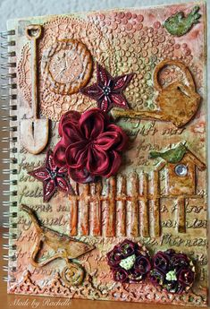 Mixed media Journal #scrapping4funchallenges Mixed Media Journal, Creative