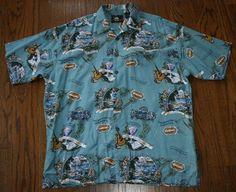 7afd9ce0 Jimmy Buffett Margaritaville Shirt hawaiian camp graphic s/s Men XL  cotton/rayon #