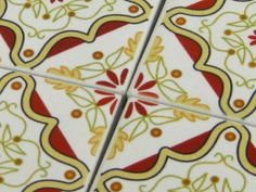 Multani Inlay Pattern C  9 Ceramic Tile Set for by MojiArts, $24.80