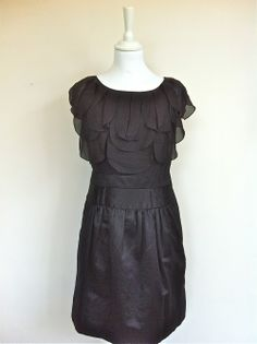 BCBG Max Azria Black Silk Dress Size Small via The Queen Bee. Click on the image to see more!
