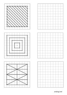Graph Paper Drawings, Graph Paper Art, Easy Drawings, Free Activities, Therapy Activities, Geometric Graphic Design, Isometric Art, Embroidery Cards, Basic Shapes