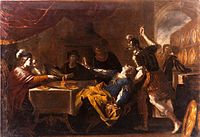 2 Samuel 13. Absalom murders his half brother Amnon for raping his sister Tamar.