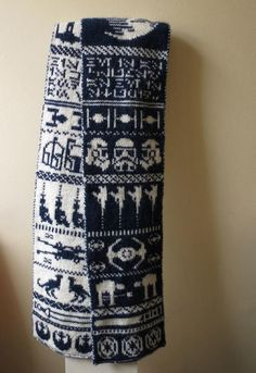 "Make Your Own Double Knit ""Star Wars"" Scarf"