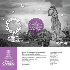 Con recital de poesía Administración Municipal celebra 'Día internacional de la Mujer'.