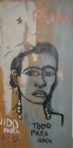 Frida  #art , #artwork , #artworld , #delraybeachart , #delrayartist , #acrylicart , #brazilianartist , #artistabrasileiro , #artedebrasilia , #modernart , #impressionism , #acrylicpainting , #acrylic , #paintings , #delrayartscene , #worldart , #worldartscene , #ericperna , #ericpernaart , #streetart , #miamiart ,   #miamiartscene , #delraybeach , #outsiderart , #installationart , #installation , #floridaartist, #