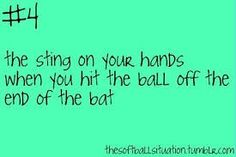 Only softball players will understand!!