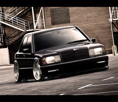 Mercedes 190E... Mercedes Benz 190e, Mercedes 190, Merc Benz, Mercedez Benz, Porsche Boxster, Tuner Cars, Black Wheels, Hot Cars, Custom Cars