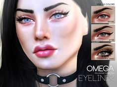 The Sims Resource: Omega Eyeliner N58 by Pralinesims • Sims 4 Downloads