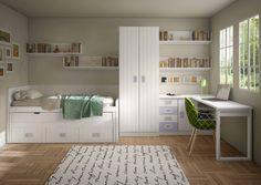 Dormitorio infantíl con cama compacta