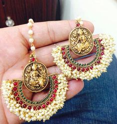 I have a pair of these earrings Totally gorgeous #ramleelainspired #indian