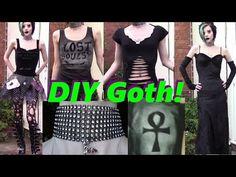 Goth on a Budget: Easy DIY Clothing! - YouTube