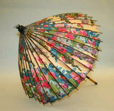 Japanese style parasol by Paul Poiret, circa 1910
