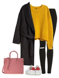 """Untitled #1345"" by laurakaroliina ❤ liked on Polyvore featuring мода, Topshop, H&M, adidas Originals и Yves Saint Laurent"