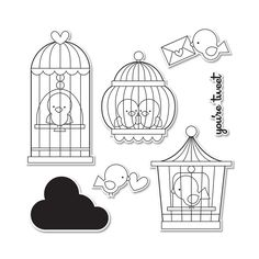 Sizzix - Doodlebug - Framelits - Die Cutting Template and Clear Acrylic Stamp Set - Simply Tweet          Scrapbook.com               $23.99