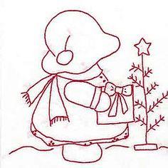 [공유] Sunbonnet Sue Redwork by Little Quilts Hand Embroidery Patterns, Applique Patterns, Embroidery Applique, Cross Stitch Embroidery, Quilt Patterns, Machine Embroidery, Embroidery Designs, Sunbonnet Sue, Hungarian Embroidery