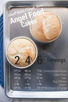 Baking With Kids! Single Serve Desserts, Single Serving Recipes, Small Desserts, Mini Desserts, Delicious Desserts, Single Serve Bread Recipe, Single Serving Cake, Small Batch Cake Recipe, Recipe Using Angel Food Cake