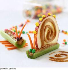 Que fofo!!! Comidinhas saudáveis para agradar os olhos da criançada.