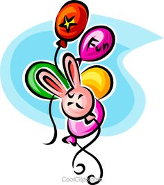 party balloons Royalty Free Vector Clip Art illustration vc062567